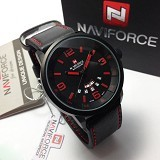NAVIFORCE Watch [NF9028] - Black/Red - Jam Tangan Pria Casual