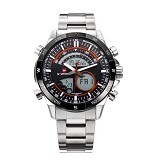 NAVIFORCE Watch [NF9031] - Silver/Orange - Jam Tangan Pria Casual