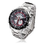 NAVIFORCE Watch [NF9031] - Silver/Red - Jam Tangan Pria Casual