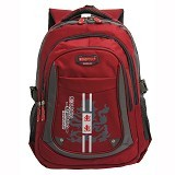 NAVY CLUB Tas Ransel Sekolah Kasual [6319] - Red - Notebook Backpack