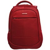 NAVY CLUB Waterproof Backpack [8300] - Red - Notebook Backpack