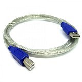 NETLINE Kabel USB Printer 3M - Silver Transparant - Cable / Connector Usb