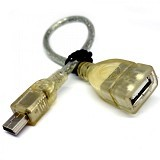NEW-M Mini USB OTG - Transparant - Cable / Connector Usb