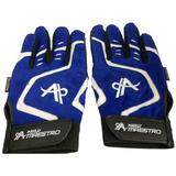 MAESTRO Full Finger Gloves - Blue White