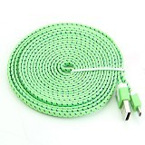 NEWTECH Kabel & Docking Noodle Nylon 3m - Green - Cable / Connector Usb