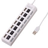 NEWTECH USB Hub Saklar 7 Port [LH-117] - White (Merchant) - Cable / Connector Usb