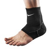 NIKE Advantage Knitted Ankle Sleve Size M [N.MS.75.031.MD] - Black/Anthracite/White - Pelindung Lutut / Knee Support