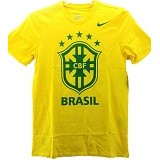 NIKE CBF Core Crest Tee Size M [652166-703] - Yellow/Green