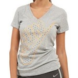 NIKE Cruiser V-NK SS Run Swoosh Women Size L [588563-063] - Dark Grey Heater - Kaos Wanita
