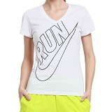 NIKE Cruiser V-NK SS Run Swoosh Women Size L [588563-100] - White