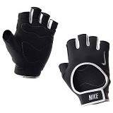 NIKE Womens Fit Training Gloves Size L [N.LG.B0.027.LG] - Black White - Pelindung Tangan / Hand Support