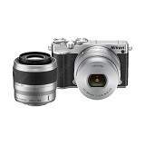 NIKON 1 J5 Mirrorless Digital Camera Double Kit - Silver - Camera Mirrorless