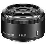 NIKON 1 NIKKOR 18.5mm f/1.8 - Black - Camera Mirrorless Lens