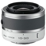 NIKON 1 NIKKOR VR 10-30mm f/3.5-5.6 - White - Camera Mirrorless Lens