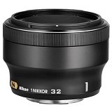 NIKON 1 Nikkor 32mm f/1.2 - Black - Camera Mirrorless Lens