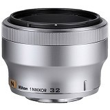 NIKON 1 Nikkor 32mm f/1.2 - Silver - Camera Mirrorless Lens