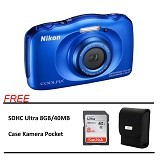 NIKON COOLPIX S33 Paket A - Blue (Merchant) - Camera Underwater