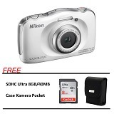NIKON COOLPIX S33 Paket A - White (Merchant) - Camera Underwater