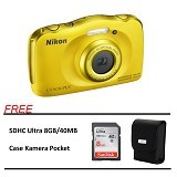 NIKON COOLPIX S33 Paket A - Yellow (Merchant) - Camera Underwater