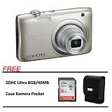 NIKON Coolpix A100 Paket A - Silver (Merchant) - Camera Pocket / Point and Shot