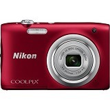 NIKON Coolpix A100 - Red (Merchant) - Camera Pocket / Point and Shot