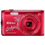 NIKON Coolpix A300 - Red Pattern - Camera Pocket / Point and Shot