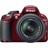 NIKON D3100 Kit VR - Red - Camera SLR