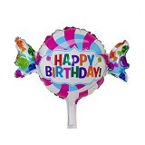 NNPARTYDREAMS Balon Foil Candy Happy Birthday (Merchant) - Balon