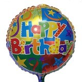 NNPARTYDREAMS Balon Foil Happy Birthday Bulat - Yellow 2 (Merchant)