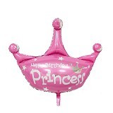 NNPARTYDREAMS Balon Foil Tulisan Happy Birthday Princess (Merchant) - Balon