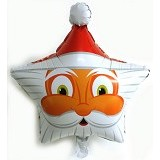 NNPARTYDREAMS Balon Santa Claus Bintang (Merchant)