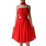 NOCHI SHOP Gaun Pesta Size L [D1736] - Red - Midi Dress Wanita