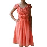 NOCHI SHOP Gaun Pesta Premium Size L [D1392] - Peach - Midi Dress Wanita