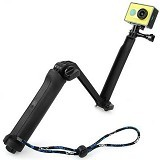 NOOSY 3 Way Foldable Extension Tripod For Xiaomi Yi/GoPro Action - Monopod and Unipod