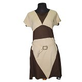 NOPE USA MADE Dress Sabuk Lengan Pendek Size M [LD 010] - Brown - Midi Dress Wanita
