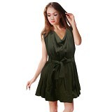 NOPE USA MADE Dress Wanita Size M [LD 033] - Green - Mini Dress Wanita