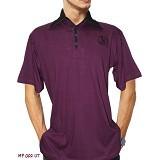 NOPE USA MADE Kaos Kerah Atasan Pria Size XL [MP002] - Purple - Kaos Pria