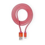 Necular Fishnet Braided Android Cable - Red (Merchant) - Cable / Connector Usb