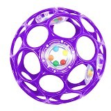 OBALL Rattle [81031-Pr] - Purple - Balls, Fribees, and Boomerangs