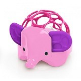 OBALL Rollie Rattles 3m+ [81550] - Pink Elephant - Rattle