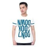 OBLONGKU T Shirt Down Look Down Size M [008-TS.004] - Cream - Kaos Pria