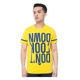 OBLONGKU T Shirt Down Look Down Size XL [008-TS.004] - Yellow - Kaos Pria