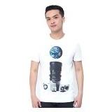 OBLONGKU T Shirt World on Shoot Size L [008-TS.005] - Cream - Kaos Pria