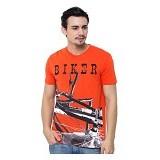 OBLONGKU T Shirt Biker Size M [008-TS.006] - Orange - Kaos Pria