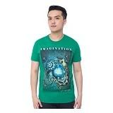 OBLONGKU T Shirt Imagination Size M [008-TS.007] - Green - Kaos Pria