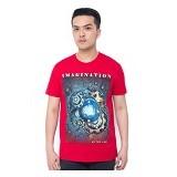 OBLONGKU T Shirt Imagination Size L [008-TS.007] - Red - Kaos Pria