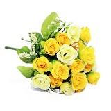 OHOME Bunga Baby Rose Artificial Hiasan Dekorasi Ruangan [AN-B000322K] - Yellow (Merchant) - Tanaman Buatan/Artificial