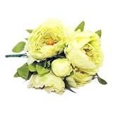 OHOME Bunga Mawar Piony Artificial Dekorasi Interior Eksterior Ruangan [AN-B000247H] - Green (Merchant) - Tanaman Buatan/Artificial
