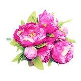OHOME Bunga Mawar Piony Artificial Dekorasi Interior Eksterior Ruangan [AN-B000247P] - Pink (Merchant) - Tanaman Buatan/Artificial