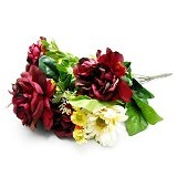 OHOME Decor Artificial Flowers Piony 13 Cabang [AN-B000350] - Dark Purple (Merchant) - Tanaman Buatan/Artificial